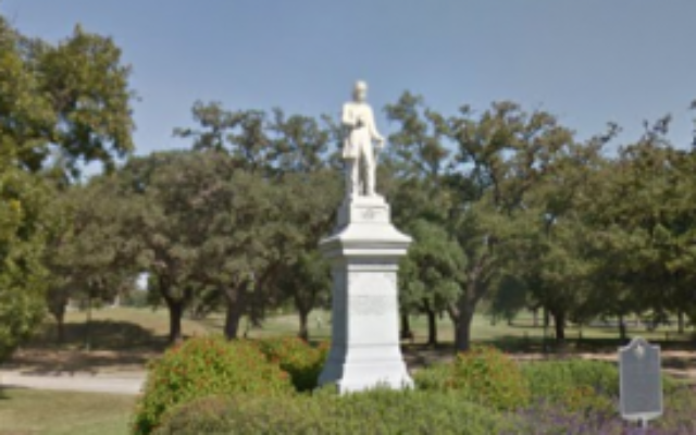 A statue of Confederate commander Richard Dowling at Hermann Park in Houston, Texas. (Google Maps)