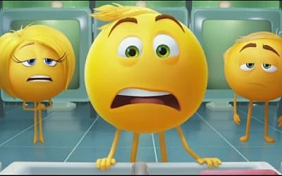 Screenshot from The Emoji Movie trailer.