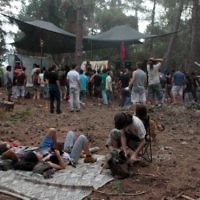 Illustrative photo of Israelis camping at a nature party in the Mount Carmel forest, June 16, 2012. (Alana Perino/Flash90)