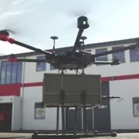 A Flytrex drone in Reykjavik, Iceland. (Screenshot from YouTube)