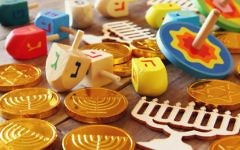 Illustrative image of chocolate coins used during the Jewish holiday of Hanukkah. (tomertu/iStock via Getty images)