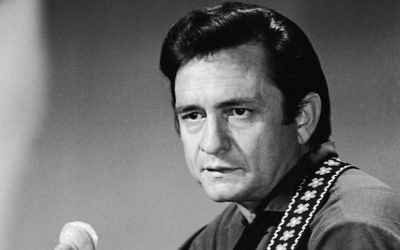 "Johnny Cash on his television series, ""The Johnny Cash Show,"" circa 1968. (Hulton Archive/Getty Images, via JTA)"