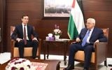 Illustrative: Senior White House adviser Jared Kushner, left, meets with Palestinian Authority President Mahmoud Abbas in Ramallah on August 24, 2017. (courtesy, WAFA)