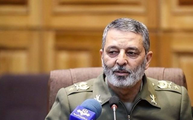 Maj. Gen. Abdolrahim Mousavi, head of the Iranian Army. (Screen capture)