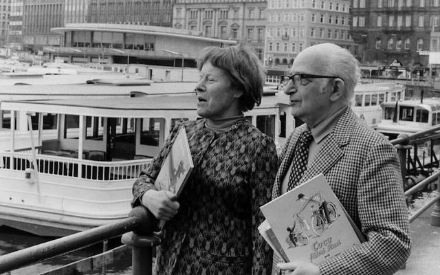 Margret and H. A. Rey in Hamburg, Germany, May, 1973. (Ullstein bild/Getty Images via JTA)