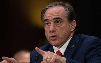 David Shulkin at his confirmation hearing with the Senate Committee on Veterans Affairs, on Capitol Hill, Feb. 1, 2017. (Drew Angerer/Getty Images via JTA)