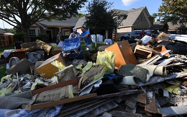 Image result for debris from homes piles up, after harvey, houston, photos