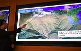 Lee Mi-Seon, a director of the National Earthquake and Volcano Center, shows a map of an area in North Korea during a briefing about the nuclear test in North Korea, at the Korea Meteorological Administration in Seoul on September 3, 2017. (AFP Photo/Jung Yeon-Je)