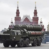The Russian S-400 missile defense system during a Victory Day military parade in Moscow's Red Square,May 9, 2017. (AFP /Natalia Kolesnikova)