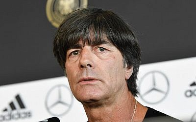 Germany's national football coach Joachim Loew gives a press conference in Stuttgart, southwestern Germany, September 3, 2017. (AFP/Thomas Kienzle)
