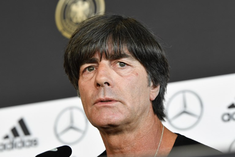 Germany's national football coach Joachim Loew gives a press conference in Stuttgart southwestern Germany