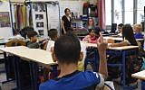 Pupils sit in their classroom in the Francois Masson primary school on the first day of the new school year on September 4, 2017, in Marseille, southern France. (Boris Horvat/AFP)