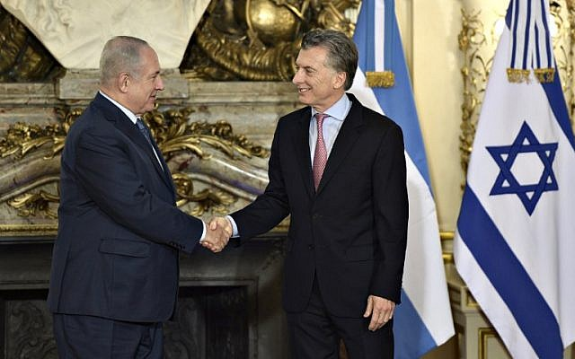 Image result for netanyahu argentina