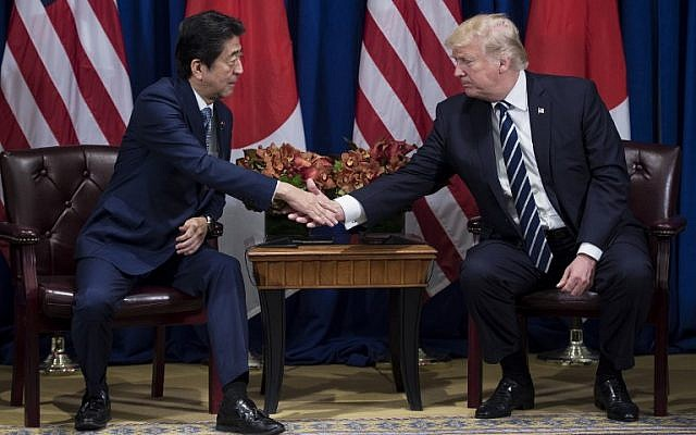 Image result for Trump in Japan: 'No Dictator Should Underestimate American Resolve'