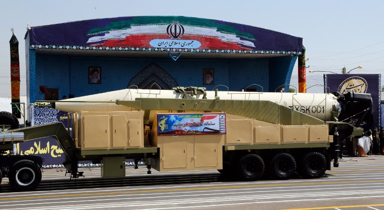 In defiance to US, Iran unveils latest missile during parade