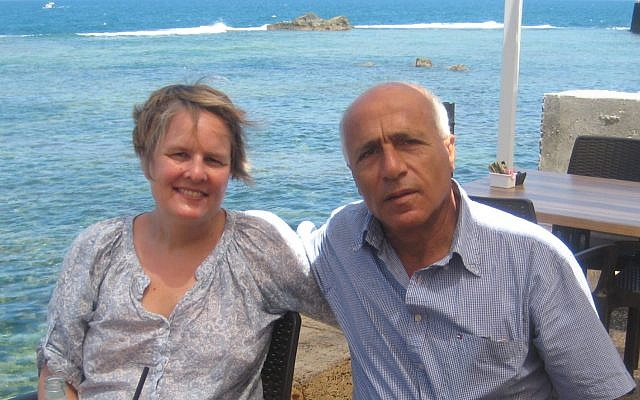 Kristin Joachimsen with Mordechai Vanunu (Facebook)
