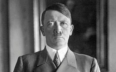 Illustrative: A 1938 portrait of Adolf Hitler (Bundesarchiv, Bild 183-H1216-0500-002 / Wikipedia)