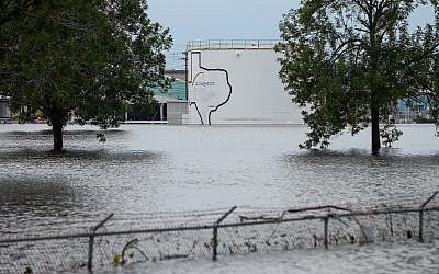 The Arkema Inc. chemical plant is flooded from Tropical Storm Harvey, Wednesday, August 30, 2017, in Crosby, Texas (Godofredo A. Vasquez/Houston Chronicle via AP)