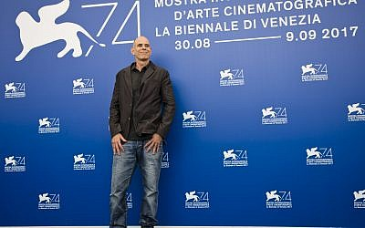 "Director Samuel Maoz poses during the photo call for the film ""Foxtrot"" at the 74th Venice Film Festival in Venice, Italy, Saturday, Sept. 2, 2017. (AP Photo/Domenico Stinellis)"