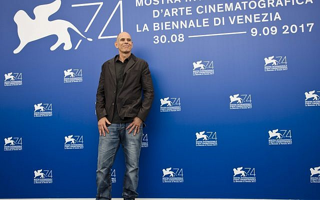 """Director Samuel Maoz poses during the photo call for the film """"Foxtrot"""" at the 74th Venice Film Festival in Venice, Italy, Saturday, Sept. 2, 2017. (AP Photo/Domenico Stinellis)"""