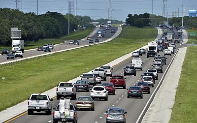 Illustrative. Traffic on I-75 through Sarasota, Florida, on Thursday, Sept. 7, 2017. (Mike Lang /Sarasota Herald-Tribune via AP)