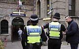 Illustrative: UK police on patrol September 17, 2017. (AP/Frank Augstein)