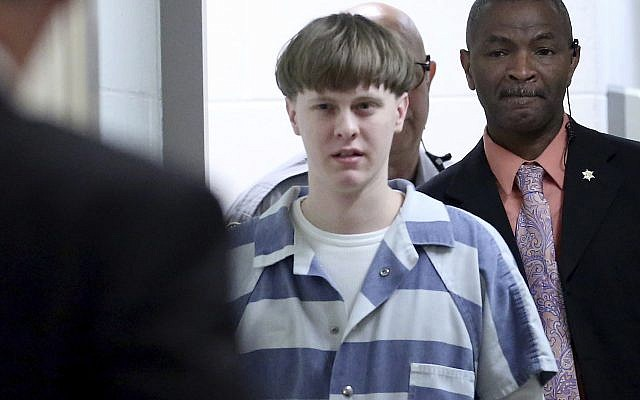 White supremacist Dylann Roof enters the court room at the Charleston County Judicial Center to enter his guilty plea on murder charges in Charleston, South Carolina, on April 10, 2017. (Grace Beahm/The Post And Courier via AP)