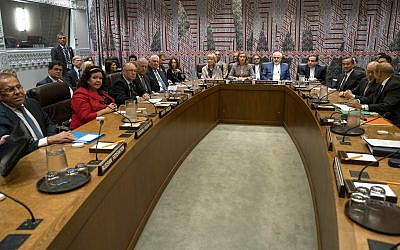 World leaders attend a European Union-hosted meeting about the Iran nuclear deal at United Nations headquarters Wednesday, September 20, 2017. (AP/Craig Ruttle)