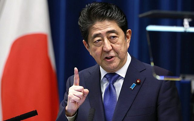 Japan's Prime Minister Shinzo Abe speaks during a press conference at the prime minister's official residence in Tokyo, Monday, Sept. 25, 2017. (AP Photo/Shizuo Kambayashi)