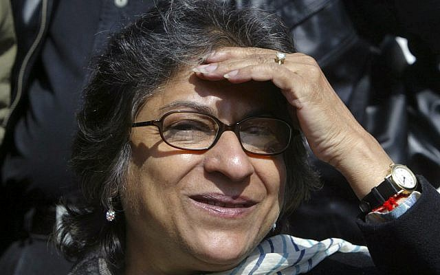 Asma Jahangir, the UN Special Rapporteur on the human rights situation in Iran, in 2008 (AP Photo/Mukhtar Khan)