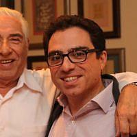This undated photo shows Baquer Namazi, left, and his son Siamak in an unidentified location. (Babak Namazi via AP)