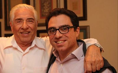 This undated photo released and made available by Babak Namazi, who is the brother of Siamak Namazi and son of Baquer Namazi, shows Baquer Namazi, left, and his son Siamak in an unidentified location. (Babak Namazi via AP)