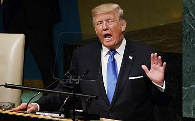 President Donald Trump speaks to the United Nations General Assembly, Tuesday, Sept. 19, 2017, in New York. (AP Photo/Evan Vucci)