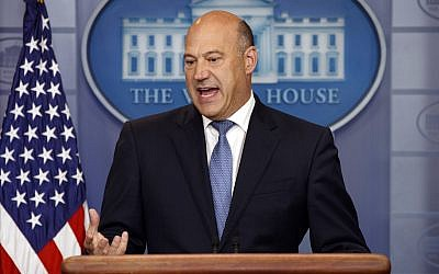White House chief economic adviser Gary Cohn speaks during the daily press briefing, Thursday, Sept. 28, 2017, in Washington. (AP Photo/Evan Vucci)