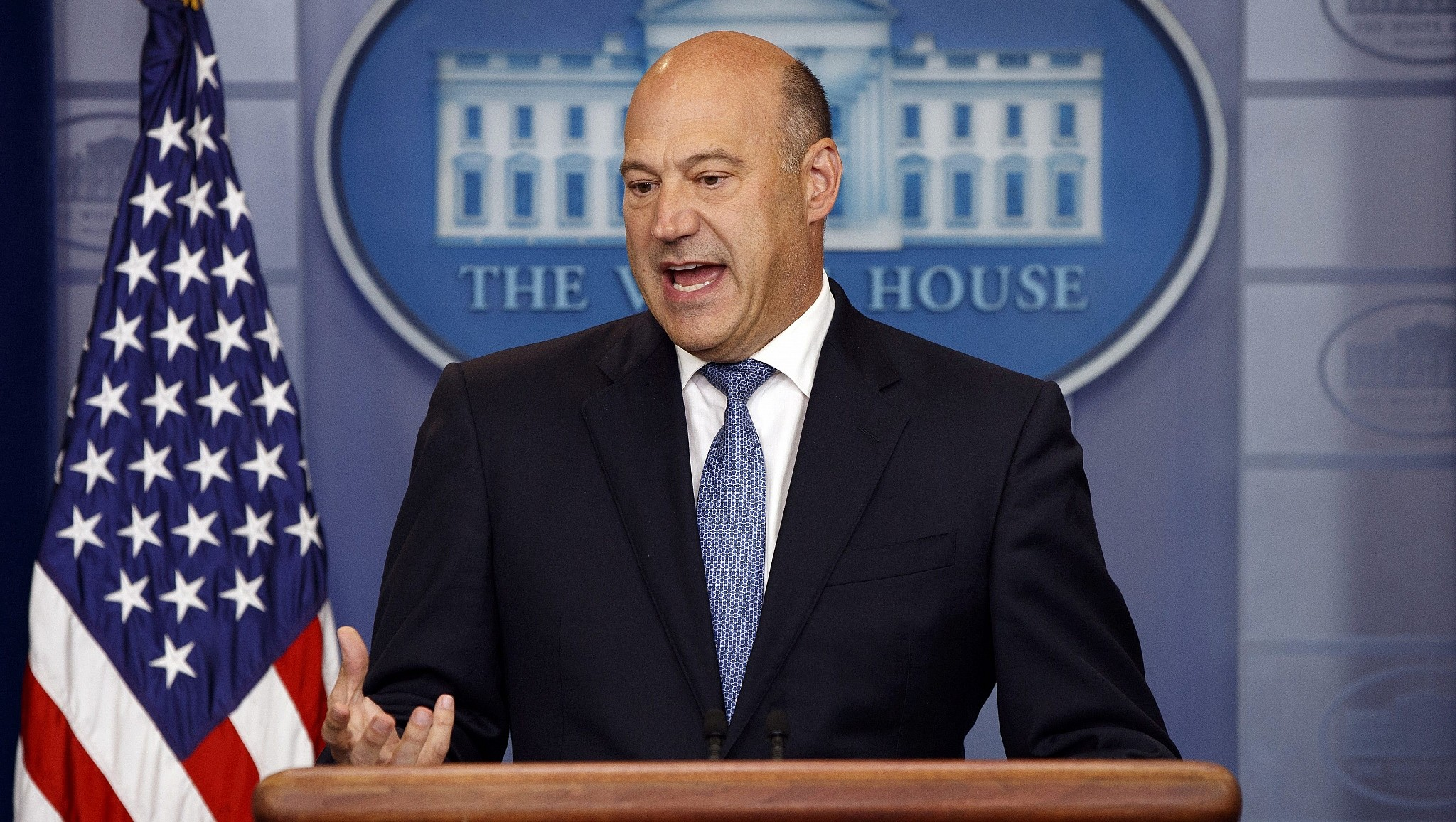 White House chief economic adviser Gary Cohn speaks during the daily press briefing Thursday Sept. 28 2017 in Washington