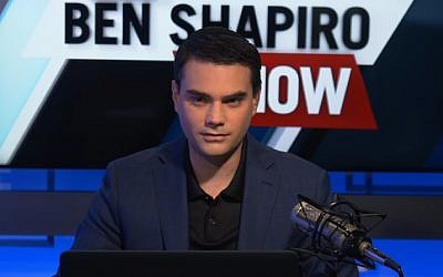 Jewish conservative commentator Ben Shapiro. (Screenshot)