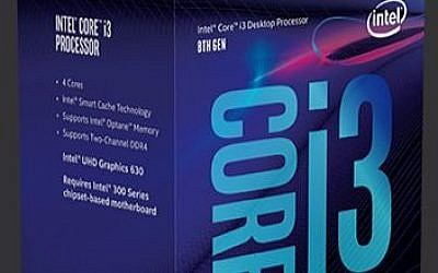 Intel Corp.'s 8th-Gen-Intel-Core-i3-8100 chips  will be on sale on October 5,  2017 (Courtesy)