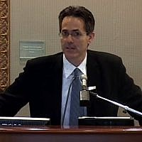 Screen capture from video of David Myers, executive director of New York's Center for Jewish History. (YouTube/The University of Scranton)