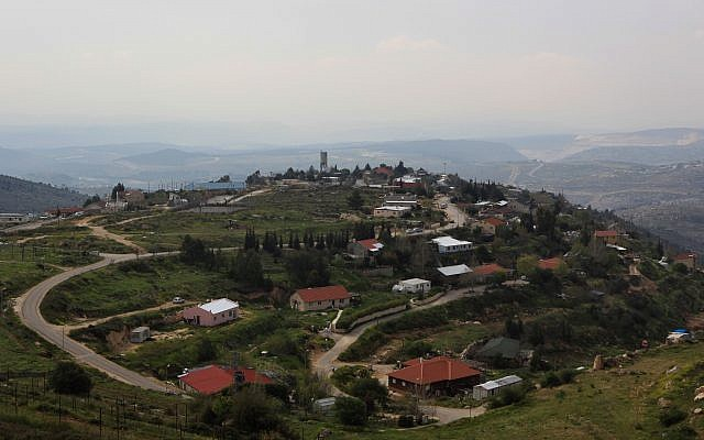 A view of the West Bank settlement of Bat Ayin. (Kobi Gideon/Flash90)