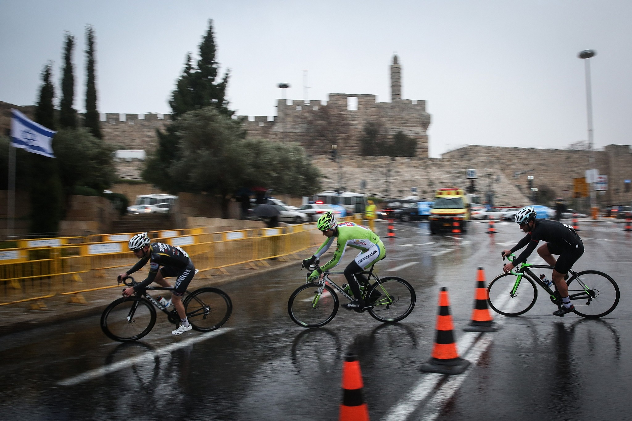 69f5a9d47cb Professional cyclists ride near the Jaffa Gate to Jerusalem's Old City in a race  organized by