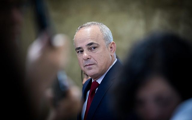 Energy Minister Yuval Steinitz arrives at the weekly cabinet meeting at the Prime Minister's Office in Jerusalem on June 18, 2017. (Yonatan Sindel/Flash90)