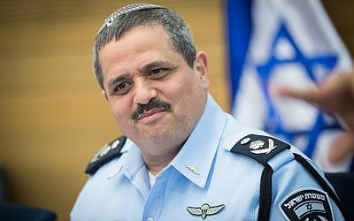 Police Commissioner Roni Alsheich attends Interior Affairs Committee meeting at the Knesset in Jerusalem, on July 11, 2017. (Yonatan Sindel/Flash90)