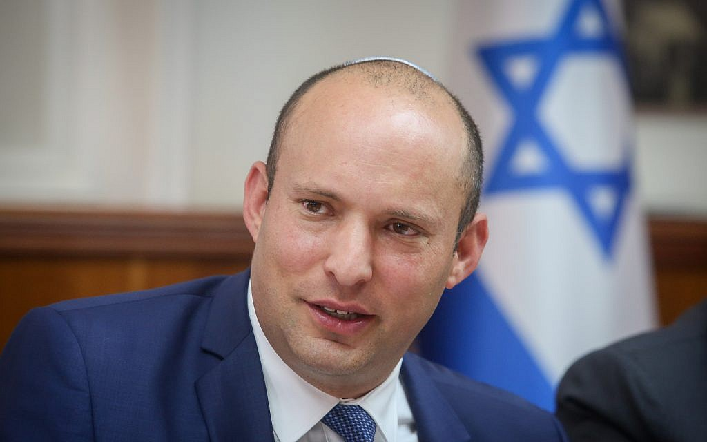Diaspora Minister Nafatli Bennett attends the weekly cabinet meeting at the Prime Minister's Office in Jerusalem on September 3, 2017. (Marc Israel Sellem/Pool/Flash90)