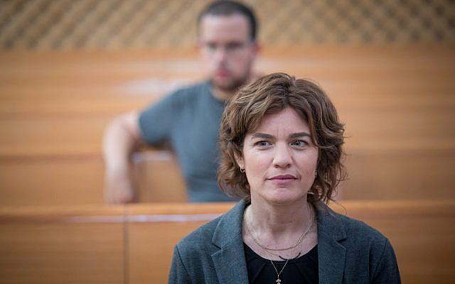 Meretz MK Tamar Zandberg attends a hearing at the High Court of Justice in Jerusalem about public transportation on Shabbat on September 11, 2017. (Yonatan Sindel/Flash90)