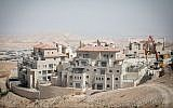 Construction of new housing in the settlement of Maale Adumim on September 25, 2017. (Miriam Alster/Flash90)