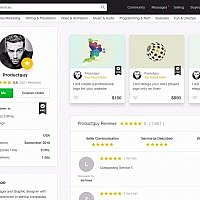 An example of a profile page on Fiverr (Courtesy)