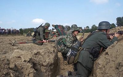 Illustrative: Screen capture from video of German soldiers during a World War II re-enactment event. (YouTube/Tauro)