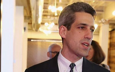 Illinois State Senator Daniel Biss, seen in a 2014 photo, (Tasos Katopodis/Getty Images for Motorola Mobility via JTA)
