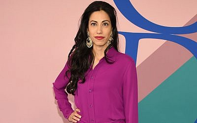 Huma Abedin at the 2017 CFDA Fashion Awards at Hammerstein Ballroom in New York CIty, June 5, 2017. (Dimitrios Kambouris/Getty Images via JTA)