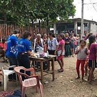 Jewish Agency volunteers offer aid in Mexico, following a deadly earthquake (courtesy